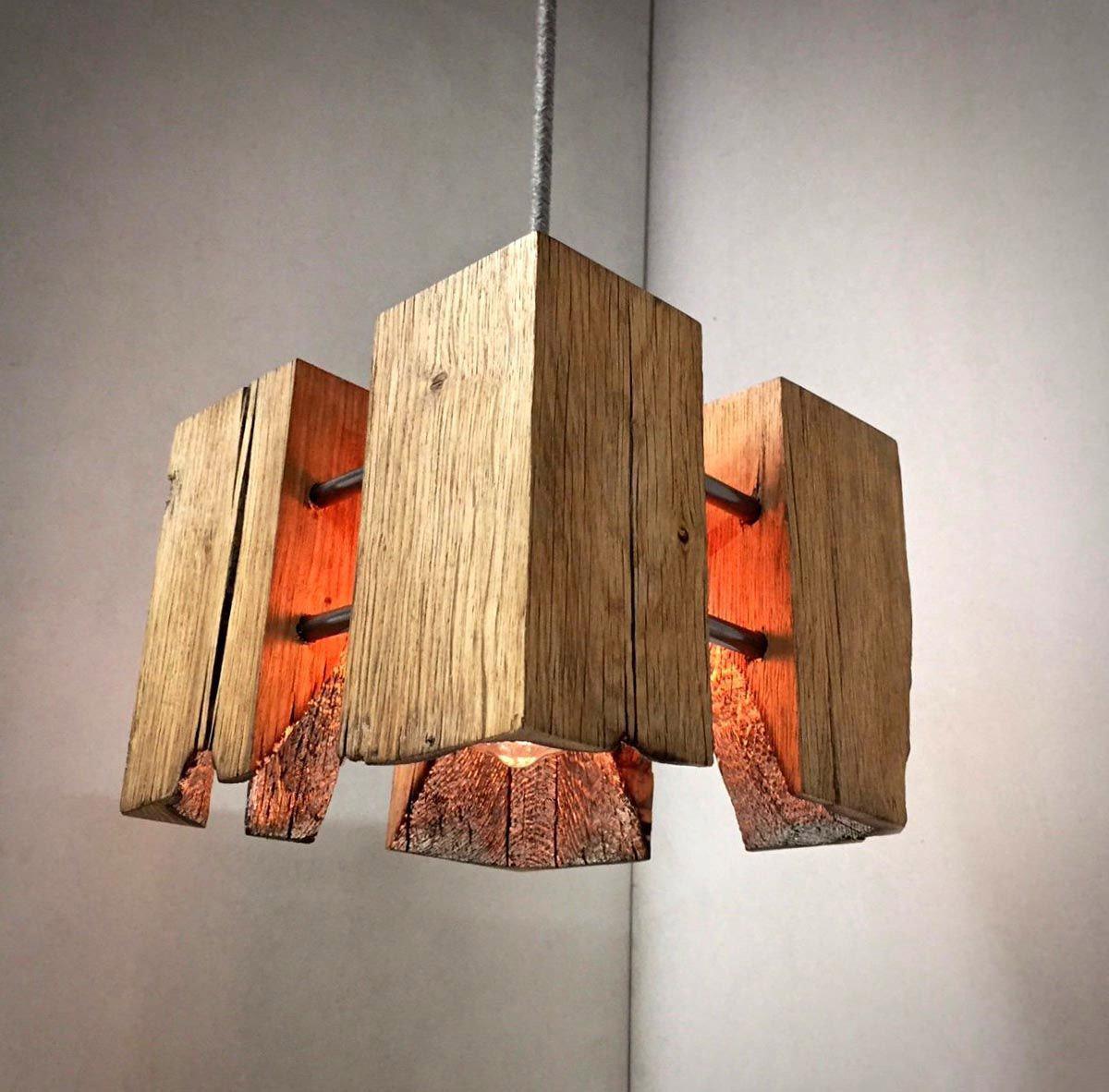 светильники из дерева своими руками идеи фото есть, плане