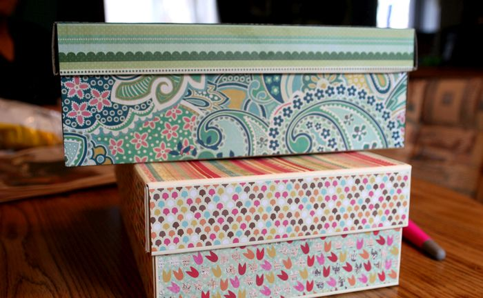 Декорация картонных коробок