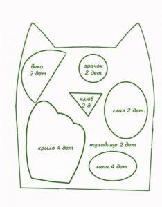 Подушка сова своими руками: фото, выкройки, схемы, советы, мастер-классы