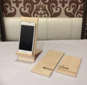 Подставка для телефона из дерева: чертежи, мастер-классы, фото