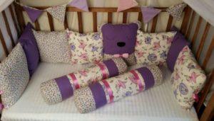 Подушки-бортики для детской кроватки: как сшить своими руками