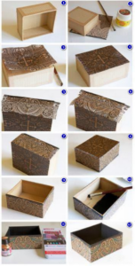 Как обклеить коробку обоями своими руками: мастер-классы с фото и видео