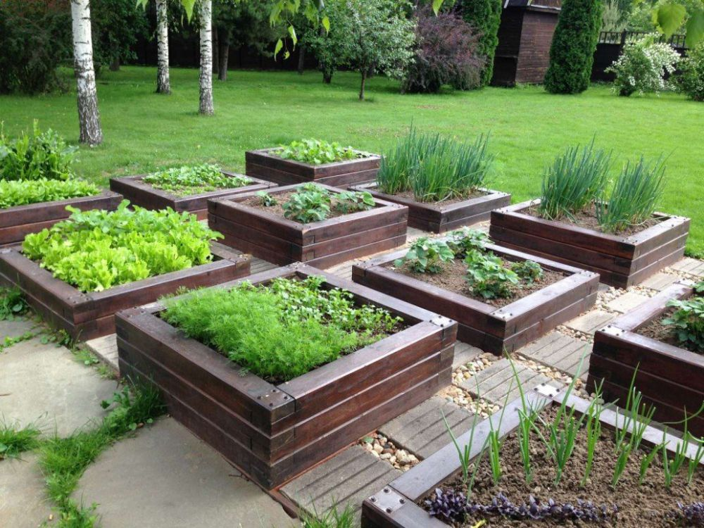 Дизайн огорода и сада своими руками фото стойка камня