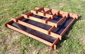 Цветник каскад (пирамида) своими руками: чертежи, размеры, пошаговая инструкция, как сделать из досок