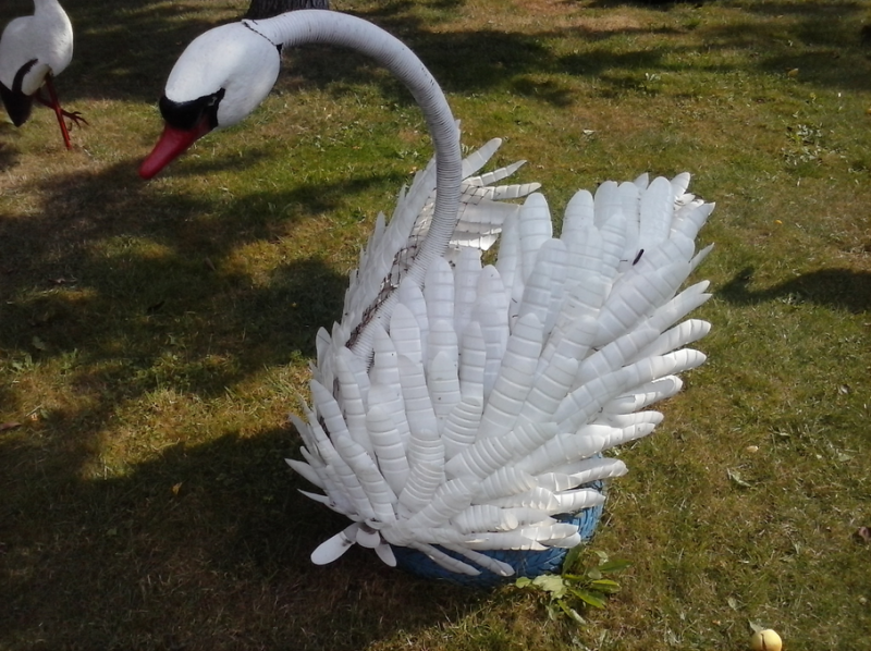 Лебедь из бумаги. Лебедь в технике модульного оригами.