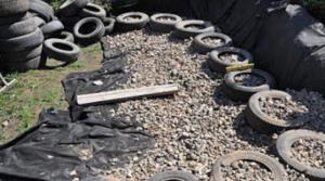 Альпийская горка из колесных шин своими руками: фото, как сделать клумбу