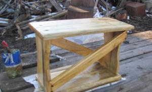 Складная садовая скамейка-перевертыш своими руками