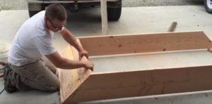Как сделать деревянную детскую песочницу своими руками