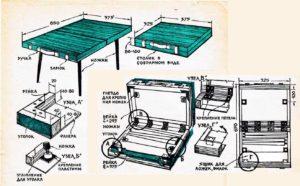 Как сделать раскладной стол для пикника своими руками