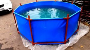 Как найти дырку в каркасном бассейне и заклеить ее