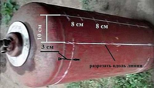 Как сделать мангал в виде паровоза из газового баллона