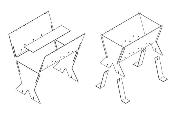 Как сделать разборный мангал своими руками: чертежи и фото