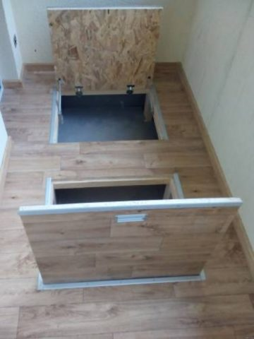 Как сделать погреб на балконе или под лоджией первого этажа своими руками