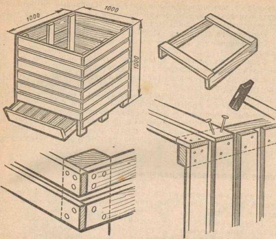 Как сделать ящик для хранения картофеля своими руками