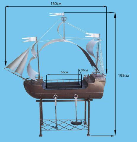 Как сделать мангал в виде корабля своими руками