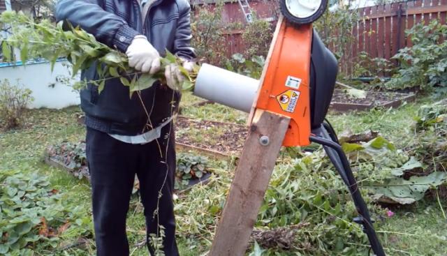 Как сделать измельчитель травы своими руками: видео, чертежи