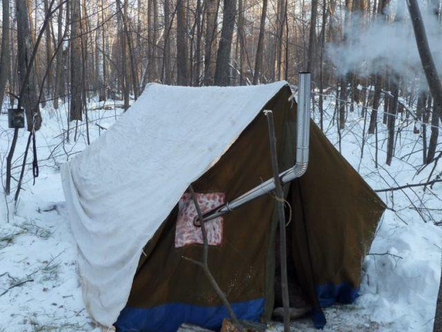Печка в палатку своими руками