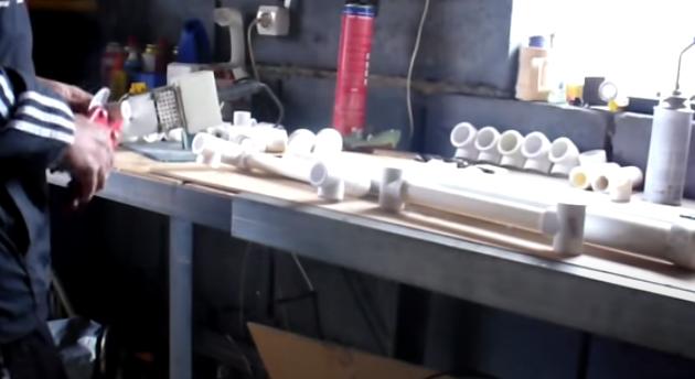 Санки из пластиковых труб своими руками