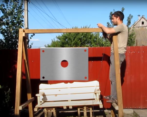 Садовые качели из бруса: как сделать, чертежи, фото, видео