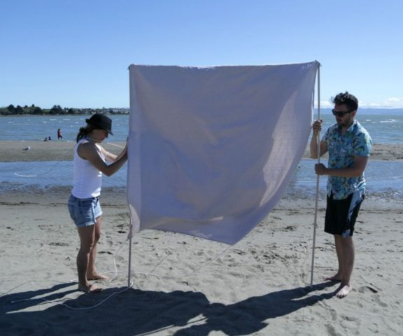 Как сделать уличный пляжный зонт своими руками