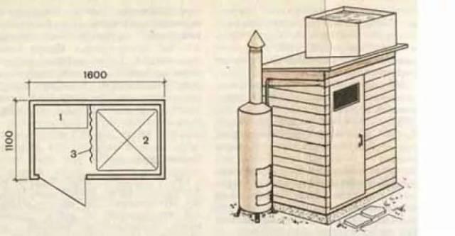 Душ из профнастила: как сделать своими руками, чертежи, фото