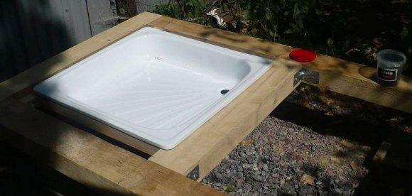 Как сделать дачный душ из поликарбоната своими руками