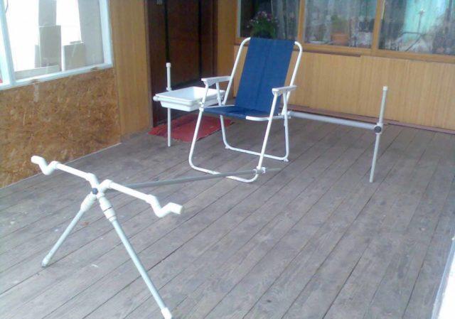 Как сделать раскладной стул для рыбалки своими руками